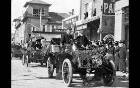 One of the original Rose Parades.